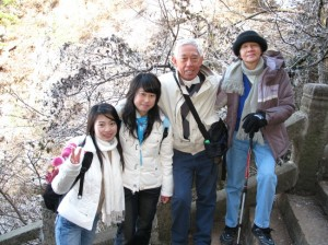 AS Toh, his wife Lucy (right) and friends visit Huangshan in China. - Photo copyright AS Toh