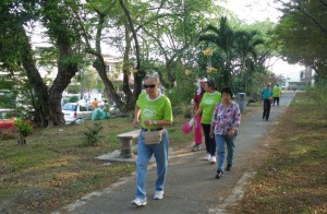Walking in the park is one of the activities organised by D'Happy Club.